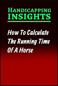 How To Calculate The Running Time Of A Horse
